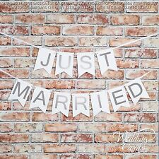 Just Married Bunting Garland Flag Wedding Party Accessories Hanging Decoration