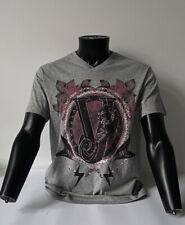 Versace Print 11D Vneck MC Short Sleeve Size Medium