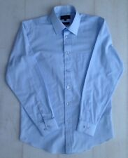 Men's TAYLOR & WRIGHT blue, long sleeved, button up shirt, collar size 15 inches