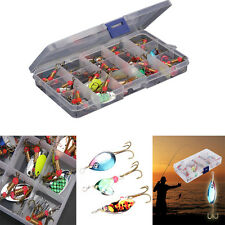 Lot 30pcs Colorful Trout Spoon Metal Fishing Lure Spinner CrankBaits Bass Tackle