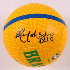 Brazil Ronaldinho Signed Nike Soccer Ball - Autographed BAS Beckett COA Yellow