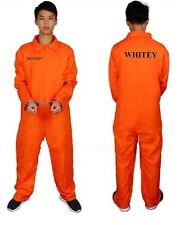 DELUXE ORANGE PRISON JUMPSUIT DEPT OF CORRECTIONS ADULT LARGE HALLOWEEN COSTUME