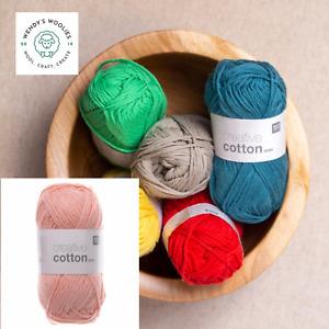 *Rico Creative Aran 100% cotton yarn Knit Crochet  *ALL SHADES*