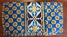 Retired Vera Bradley Riviera Blue with mosaic tile large trifold wallet