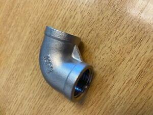 """Stainless Steel 90 deg Elbow BSP Female 1/2"""""""