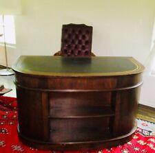 Sligh Furniture Holland Antique Desk Half Round Fruitwood Finish 8 Drawer