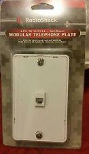 Modular telephone plate 4 pin (RJ-11/RJ-14) WALL-MOUNT