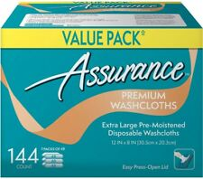 Assurance Premium Washcloths Extra Large XL 144 Count Disposable Wipes Washcloth