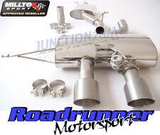 Milltek SSXVW164 Golf R MK6 Exhaust Cat Back Resonated Titanium Tails EC / TUV