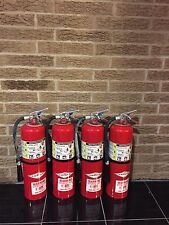 SET OF (4) 10LB ABC FIRE EXTINGUISHERS (nice) Refurbished New CERTIFICATION TAG