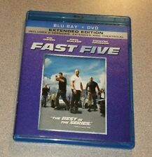 Fast Five (Blu-ray/DVD, 2011, 2-Disc Set, Extended Edition