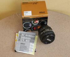 Nikon AF Nikkor 50mm F1.4 D standard normal lens with caps for film or digital