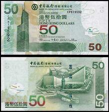HONG KONG 50 DOLLARS (P336f) BANK OF CHINA 2009 UNC