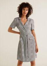 Mango Vestido Candela Printed Bow Dress Sz M