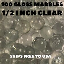 CLEAR GLASS MARBLES 100 COUNT 1/2 INCH