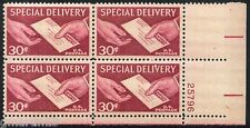 US - Scott # E21 - 4 Mint NH Plate Blocks - 1957 Special Delivery