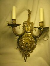 elegant vintage electric double candle light lamp sconce Spain wall deco fixture