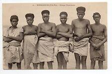 MADAGASCAR colonie française Ethnies Groupe d'Antaimoro jeunes gens cote est
