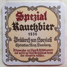 Spezial Rauchbier Ch. Merz Brauerei Bamberg Ober- Franken Bayern BD Bier-Deckel+