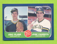 1986 Fleer Prospects - Jose Canseco & Eric Plunk (#649)  Oakland Athletics