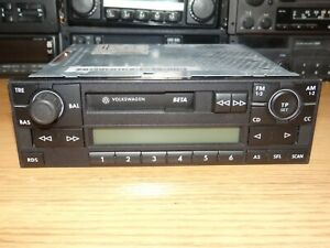 Blaupunkt Beta V Vintage 90s Cassette Car Stereo Bluetooth OEM VW Golf Polo Lupo