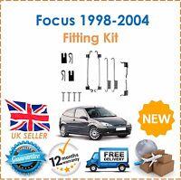 For Ford Focus MK1 98-04 Rear Brake Shoes Fitting Kit Handbrake Parking Drums