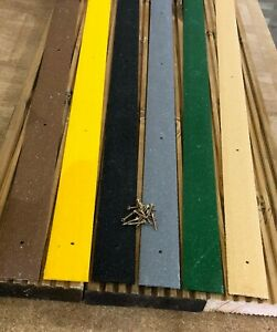 GRP Anti Slip Decking Strips 100 Pieces x 1200mm Free Drilling and Screws