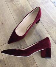 JCrew Avery Heels in Velvet shoes $278 cabernet red f5215 Size 8