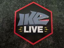 Mike Iaconelli - Ike Live Fishing Sticker - 3 1/2 x 3 1/2  inch