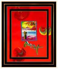 PETER MAX Original Signed PAINTING SAGE with BEAUTY PROFILE Pop ART Acrylic Oil