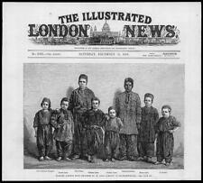 1881 ANTIQUE PRINT-Turquie Constantinople Istanbul Acrobat Garçons Arabe (24)