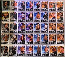 Lot 40 Cartes Catch Slam Attax Evolution Trading Card Game différentes 2009
