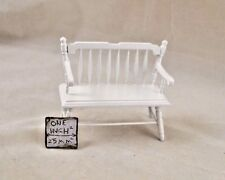 Deacon Bench -  white finish -   1/12 scale dollhouse miniature  CLA10510