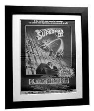 SUPERMAN 3+Movie+Film+POSTER+AD+RARE+ORIGINAL 1983+FRAMED+EXPRESS GLOBAL SHIP