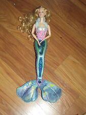 Magical Mermaid Barbie  Doll Blonde  Purple Blue Green Untested