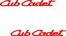 "CUB CADET RED GARDEN TRACTOR DECALS --STICKERS A PAIR OF1"" X 9"" EACH"