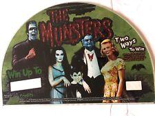 "The Munsters Original IGT Slot Machine Glass  Half Moon Shape 17"" W x 12"" H"