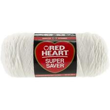 Red Heart Super Saver Yarn, White, 7 Oz Skein, E300, 100% Acrylic, Worsted