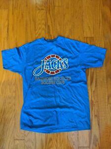 Baltimore Skipjacks Vintage Hanes 50/50 Short Sleeve T Shirt Blue Large L