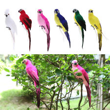 Parrot Statues Ornament Tree Standing Realistic Animal Sculpture Home Decor