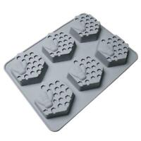 6 Hole Cavity Rectangle Soap Mold Silicone Baking Mould Homemade Tray Craft J6C4