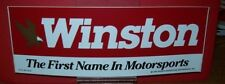 WINSTON MOTORSPORTS 1989 3X10 OLD DECAL STICKER