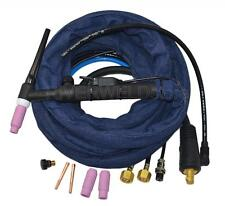 WP-18FV-12 TIG Welding Torch Complete Water Cooled 350A Flexible & Gas Head Body