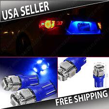 1 Pair Ultra Blue LED License Plate Light Bulbs BULB 10SMD T10 194 168 W5W WEDGE