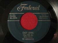DOOWOP 45 - THE MIDNIGHTERS - CRAZY LOVING / ANNIE'S AUNT FANNIE - FEDERAL 12200
