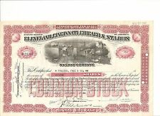 1940's Cleveland, Cincinnati, Chicago & St. Louis Railroad stock certificate