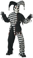Mens Large Evil Jester Adult Costume - Scary Costumes