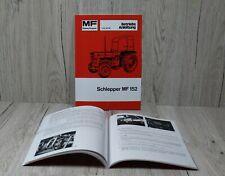 Massey Ferguson Betriebsanleitung für Traktor MF 152 MF152 .