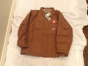 101618BWN-Carhartt Brown Flame Resistent Duck Traditional Coat-3XLTall