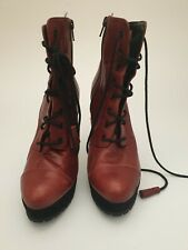 Ladies Carvela Ankle Boots High Heels Burgundy Uk Size 6/39